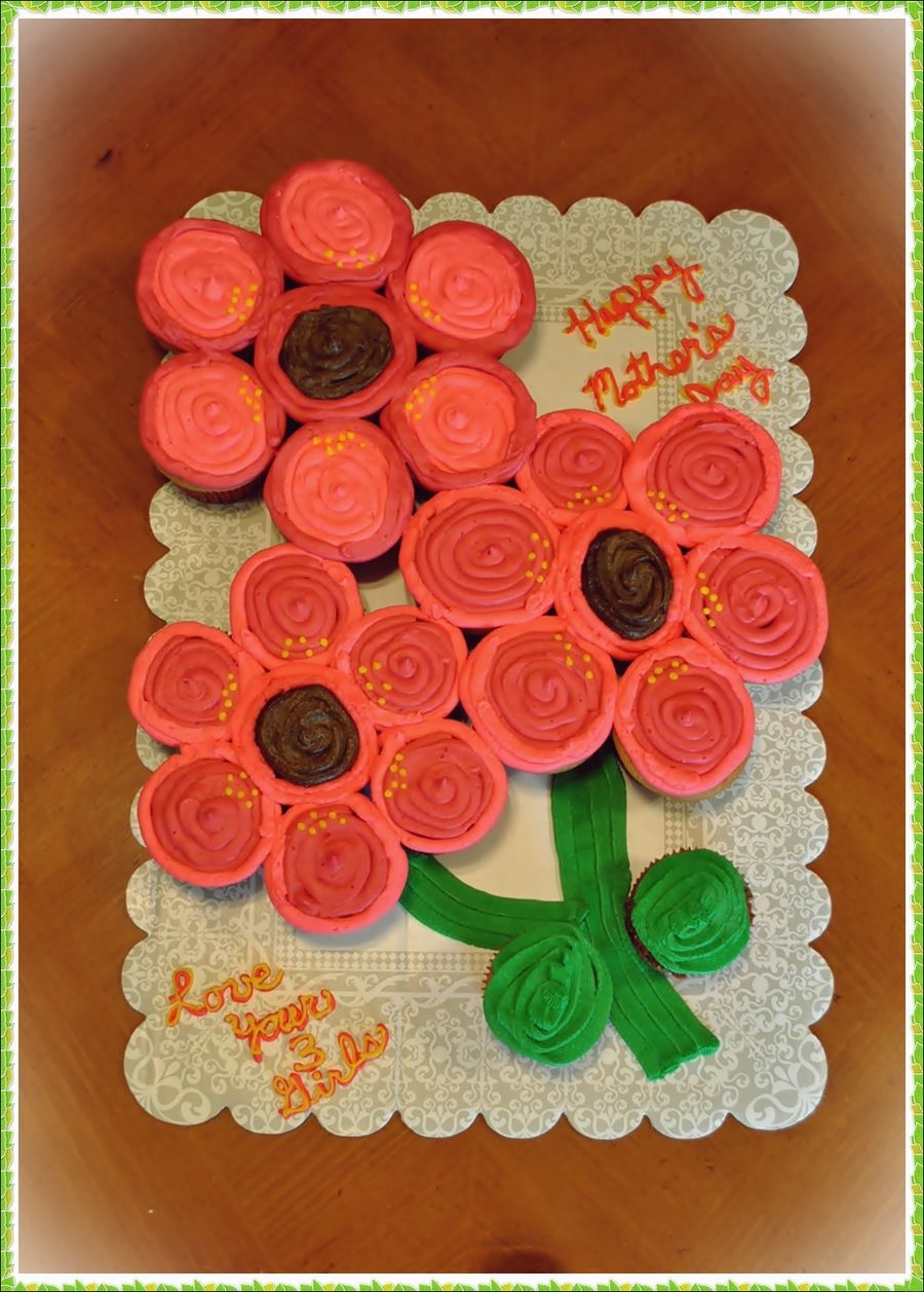 Mother S Day Flower Cupcake Cake Easter Flower Cupcake