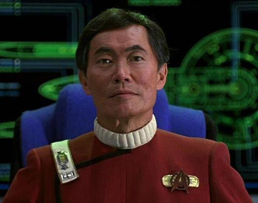 George Takei as Captain Hikaru Sulu Star Trek 'Target that explosion and fire'