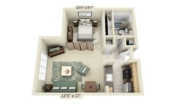 Charming Floor Plan For Minimalist Apartment Listed In Stunning Studio  Apartment Floor Plan Design