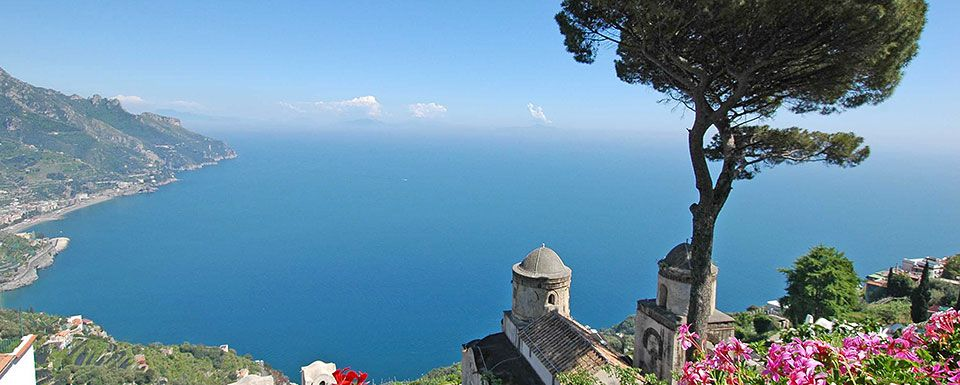 A breathtaking view of the coastline from Ravello...