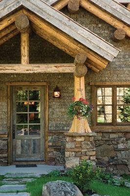 Entrance way for log cabin-SR