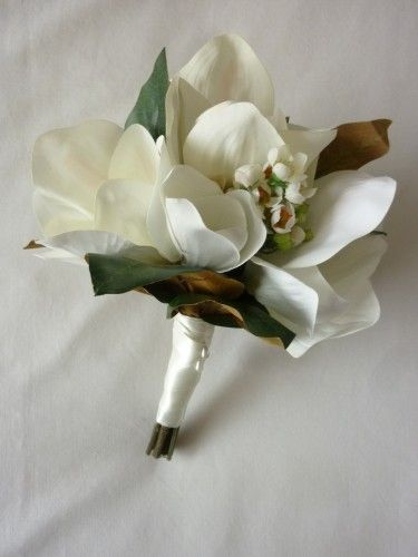 Beautiful Magnolia Flowers And Buds With A Sprinkle Of Wax Flower And With Images Magnolias Wedding Bouquet Magnolia Wedding Magnolia Bouquet