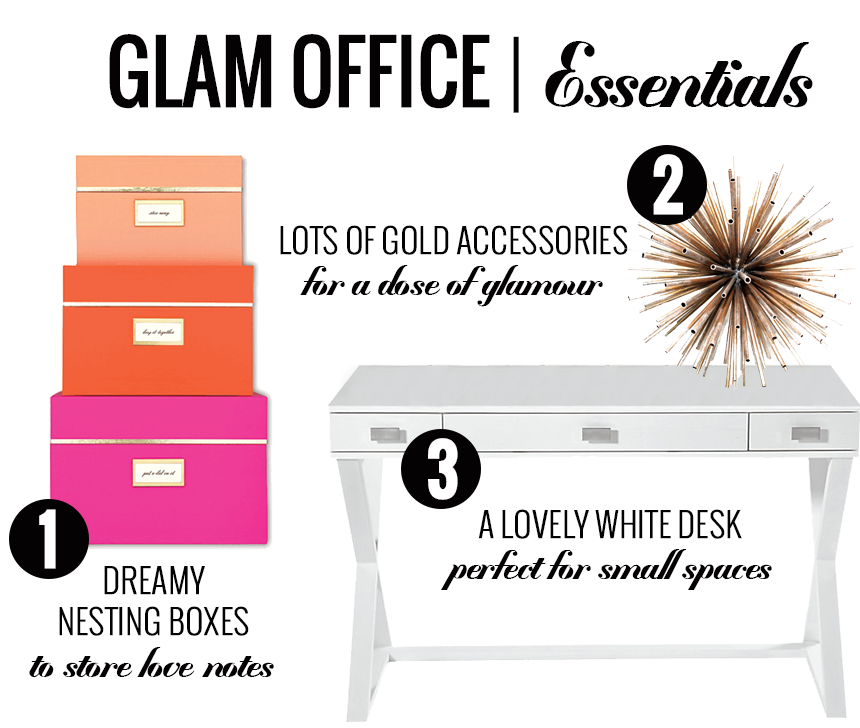 Glam Office Decor From Foxy Oxie Kate Spade Nesting