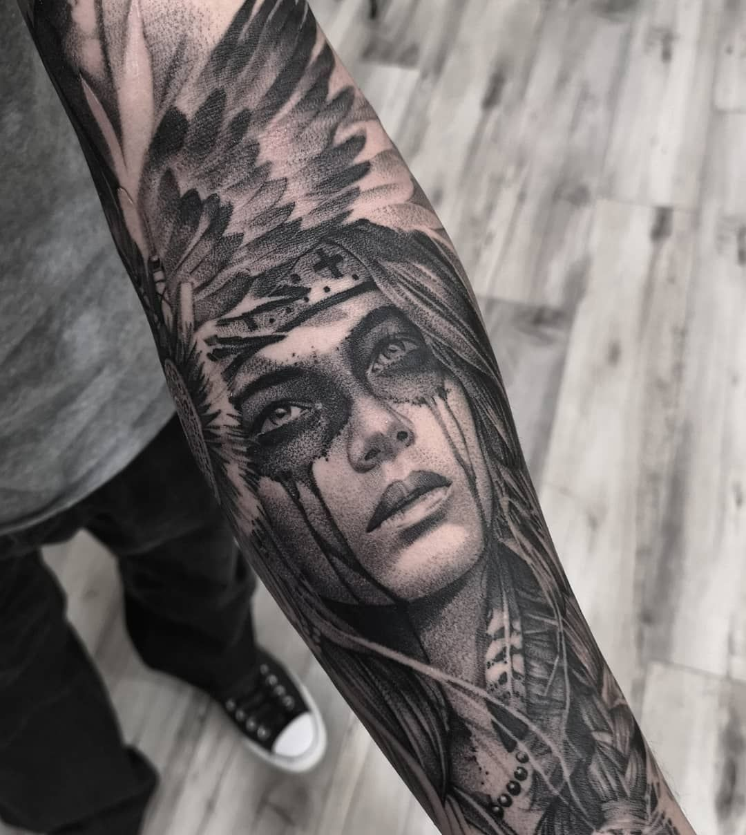 Native American Did Native American Tattoos American Tattoos Native American Tattoo Sleeve