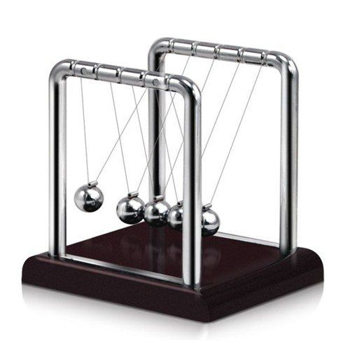 Westminister Inc – Newton's Cradle Balancing Balls Science in Motion Wood Grain