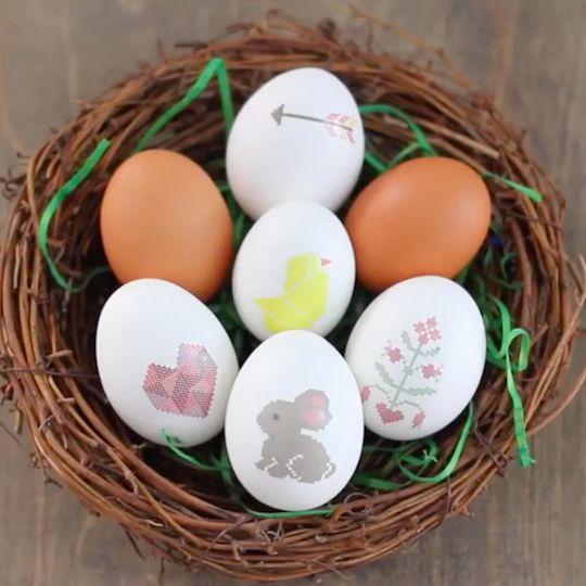 Diy Temporary Tattoo Easter Eggs Free Printable Tattoo