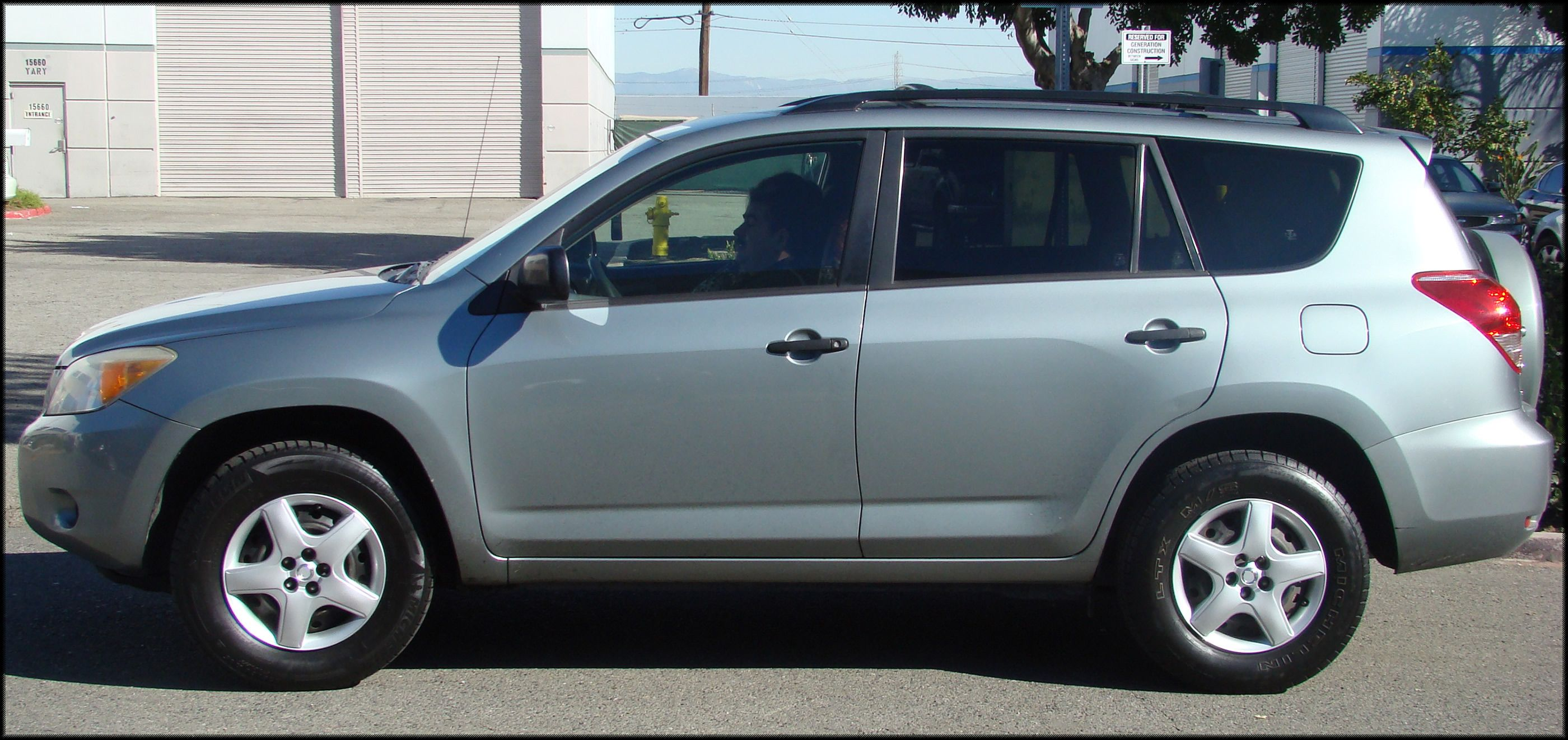 Rav4 with replacement Matrix hubcaps  Only available at