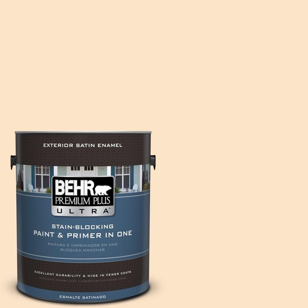 BEHR Premium Plus Ultra 1-gal. #M260-2 Light Nougat Satin Enamel Exterior Paint