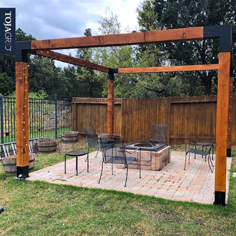 Pergola Kit With Shade Sail For 6x6 Wood Posts Shade Sail Pergola Kits Pergola