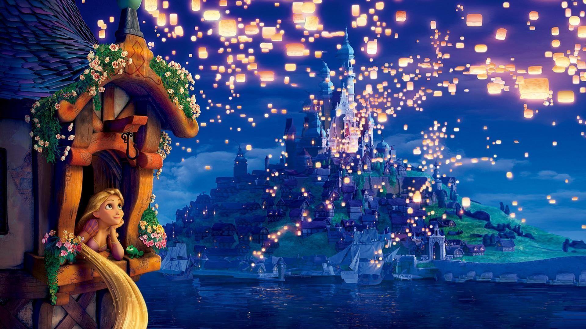 Tangled Wallpapers Disney Desktop Wallpaper Kinkade Disney Thomas Kinkade Disney