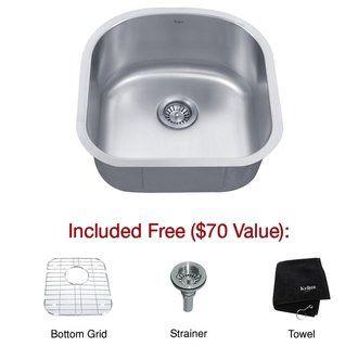 Kraus Kbu15 Stainless Steel Kitchen Sink Laundry Room Sink