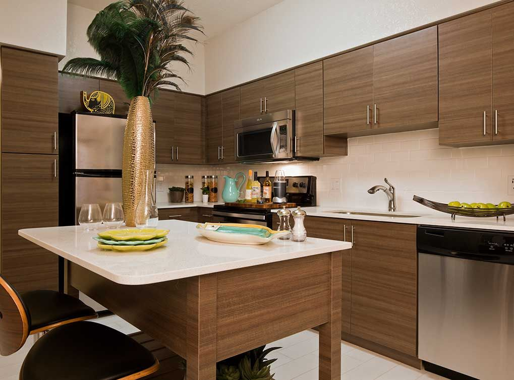 AMLI Dadeland Apartments In Miami, FL Feature Fully Equipped Kitchens With  Stainless Steel Appliances · Quartz CountertopsRental ...