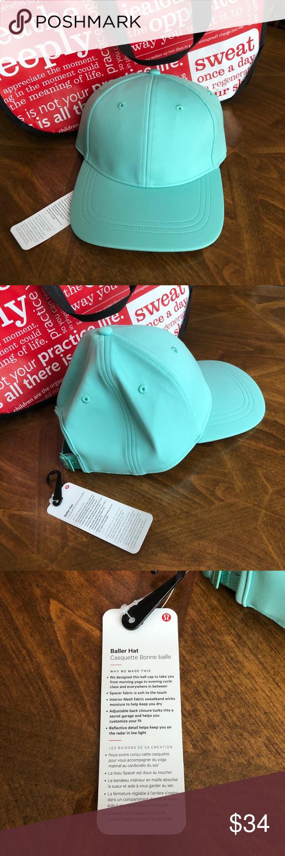 87d828fc Lululemon Baller Hat Such a beautiful color. Lulu Washed marsh! Blue/green  color