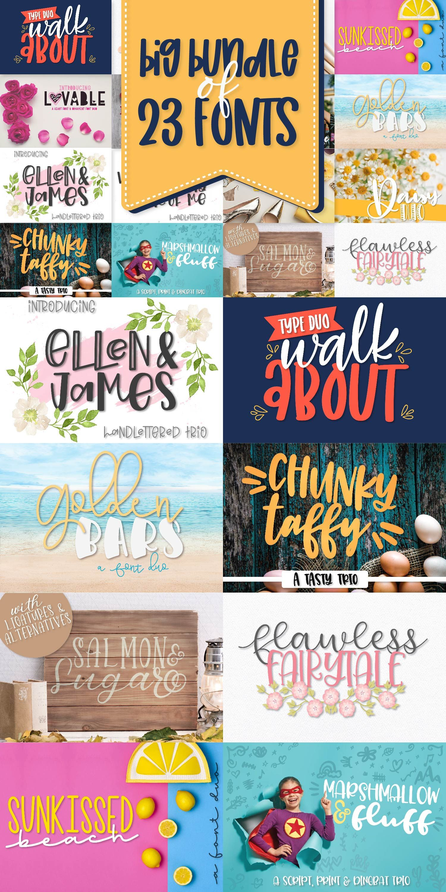 Download Power Duos - A Huge Font Bundle with 10 duo/trio sets ...