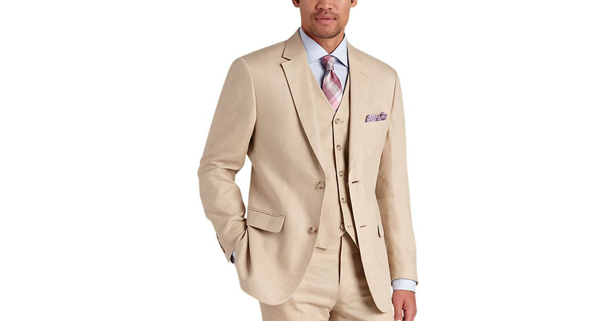 Check this out! Pronto Uomo Platinum Modern Fit Linen Suit Separates Coat, Tan from MensWearhouse. #MensWearhouse