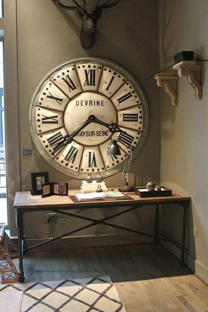 l 39 horloge murale id es en photos pour d corez vos murs meubles industriels pinterest. Black Bedroom Furniture Sets. Home Design Ideas