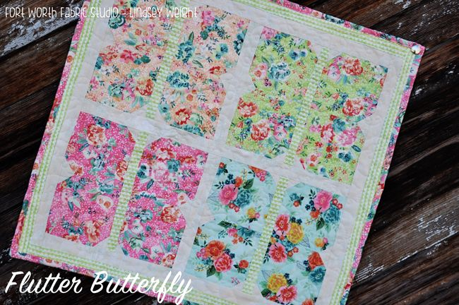 March Mystery Project 1 {Flutter Butterfly} - Fort Worth Fabric Studio - Lindsey Weight