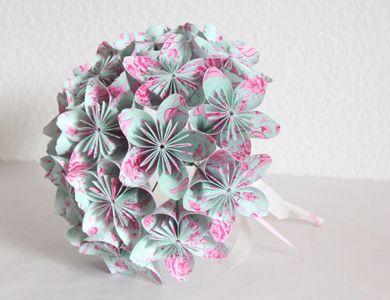 bouquet de mariage origami. Black Bedroom Furniture Sets. Home Design Ideas