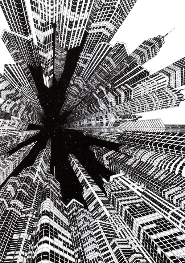 josh raymond focal point illustration art city art illustration art. Black Bedroom Furniture Sets. Home Design Ideas