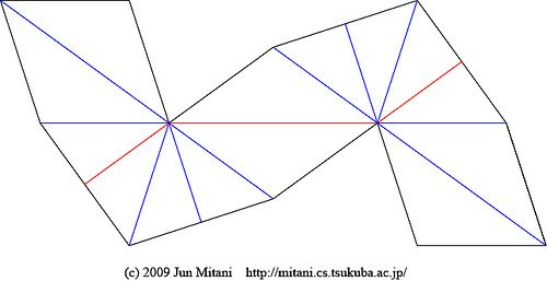 A part of Great Dodecahedron by Jun Mitani, via Flickr