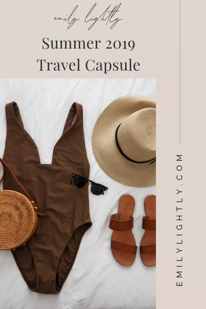 What's in My Summer 2019 Travel Capsule Wardrobe #travelwardrobesummer
