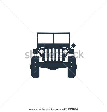 army 4x4 car front