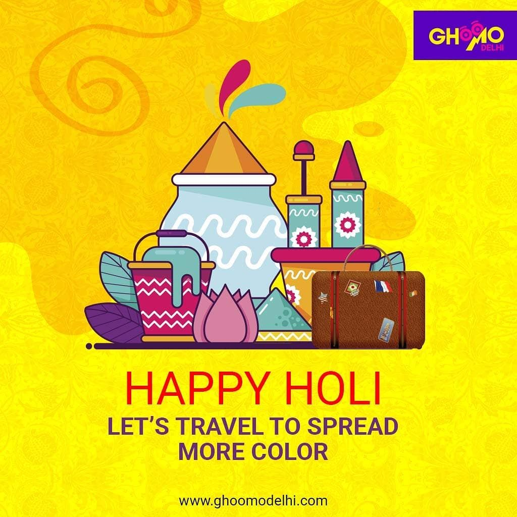 Let's travel to spread more colour #ghoomodelhi #holi #happyholi #india #festival #holifestival #love #colors #colours #color #holipowder #like #k #festivalofcolors #bhfyp #holifestivalofcolours #holihai #festivalofcolours #holifest #ig #tiktok #instagood #indianfestival #portraits #mumbai #photography #vrindavan #colour #holiparty #colorrun #bhfyp www.ghoomodelhi.com