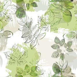 Botanical Leaves by Colourbook Seamless Repeat Royalty-Free Stock Pattern