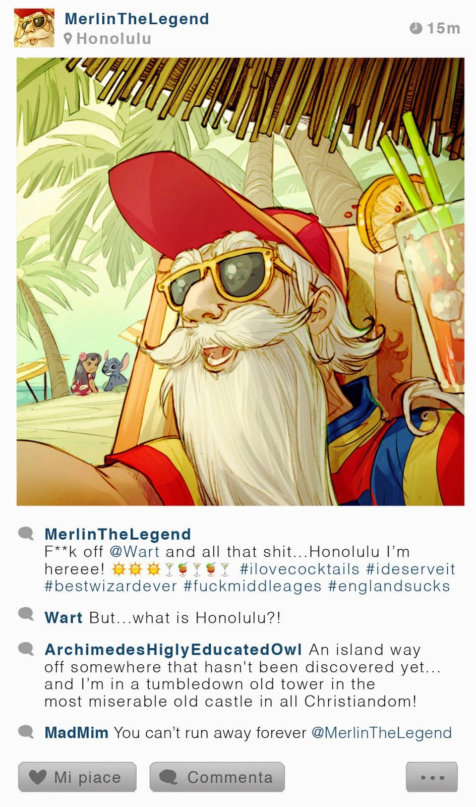 Selfie Fables | What if disney characters have Instagram | Merlin ...