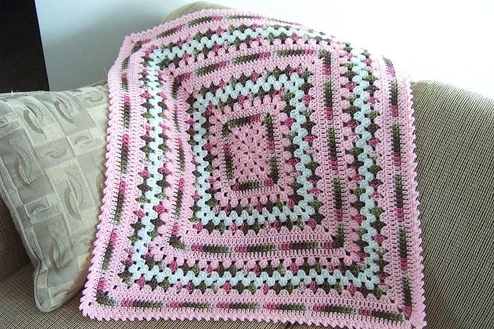 Crochet Granny Square Baby Afghan Pattern : crochet and knit projects on Pinterest Baby Girl Crochet ...