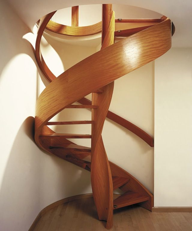 Wooden Custom Spiral Staircase