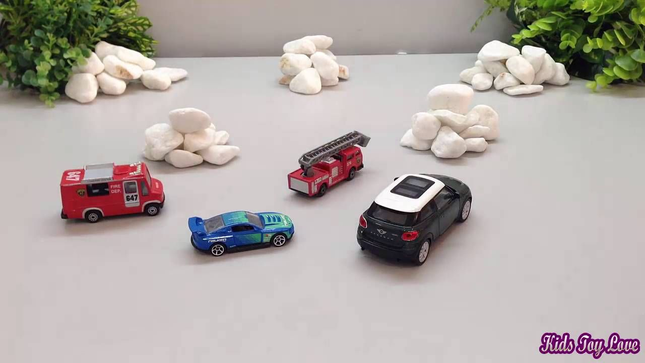Toys car for kids  Toy Car Crashing  Toy Cars for Children  Fire Truck Toys for kids