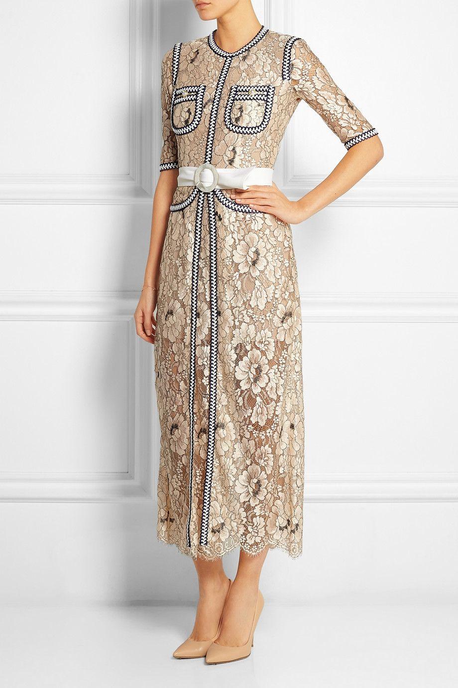 Alessandra Rich Passementerietrimmed florallace gown NETA