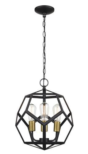 Patriot Lighting Suzanna 3 Light Oil Rubbed Bronze Pendant