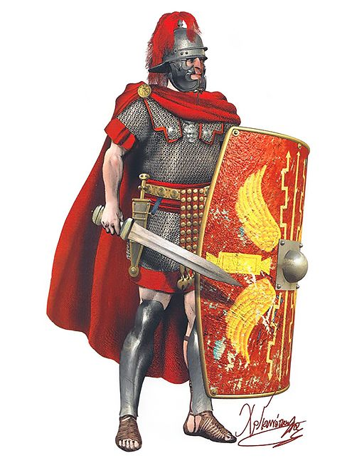 Roman Centurion Of The Eastern Legions In The Armor Of The Old Type  The Period Of Augustus