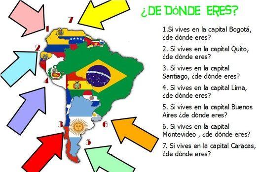 De Donde Eres Clase De Espanol Ensenando Espanol Aprender Espanol