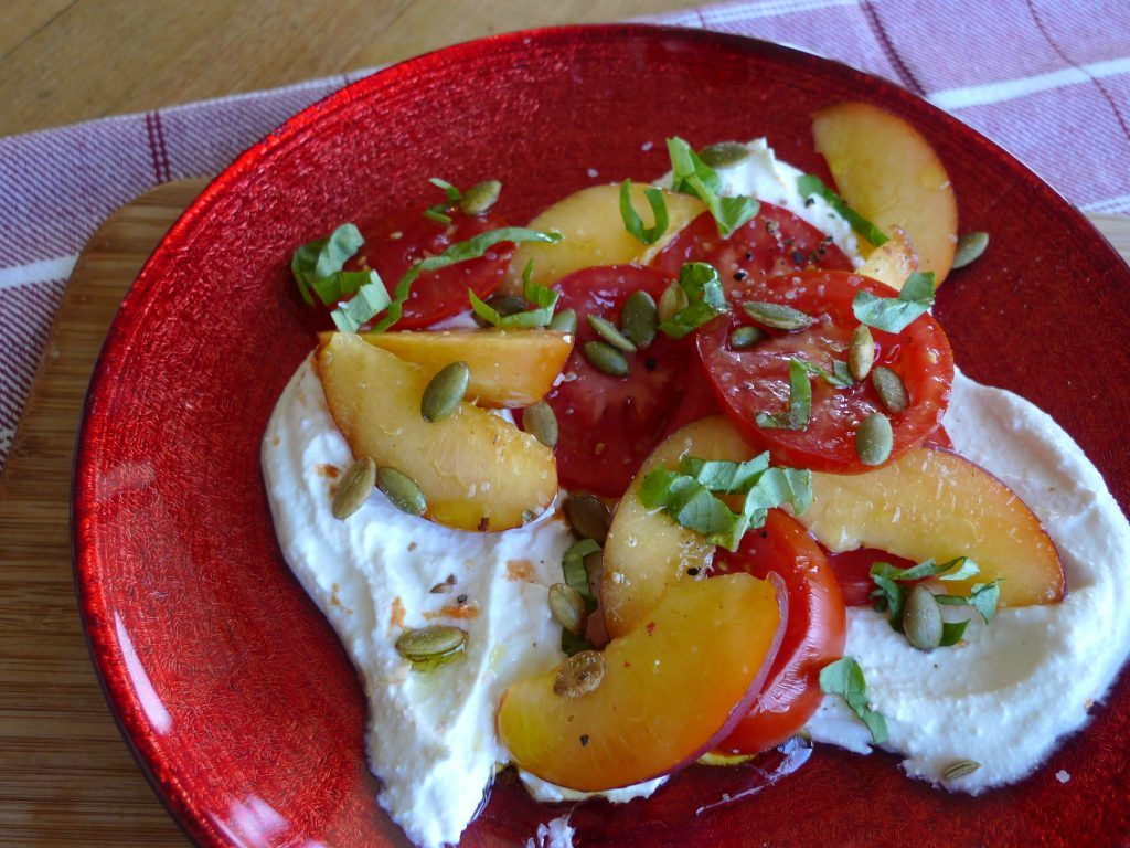 Peach, Tomato and Whipped Ricotta Salad — The Kitchen Witch | What's