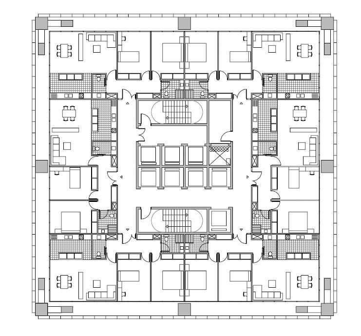 Proyecto torre de viviendas emcarquitectura torres for Oficinas bbva mallorca