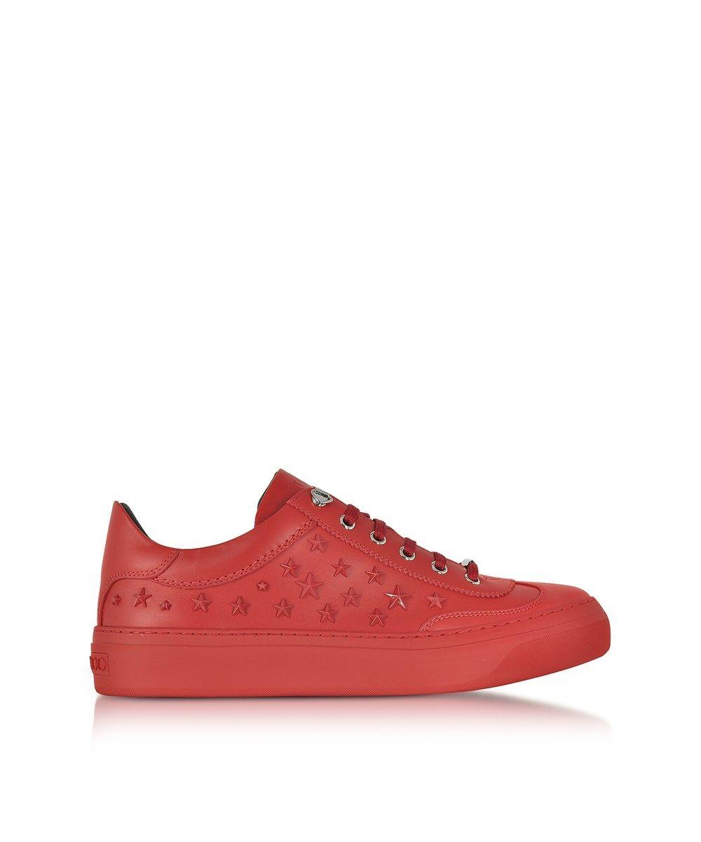 jimmy choo jimmy choo men s red leather sneakers jimmychoo shoes rh pinterest com