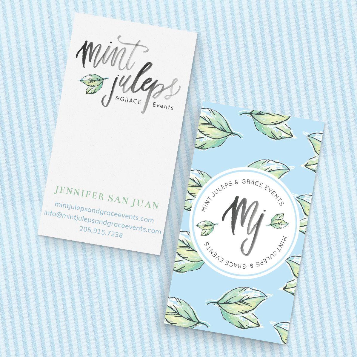 Wedding Branding Ideas: Mint Juleps & Grace's Feminine Branding