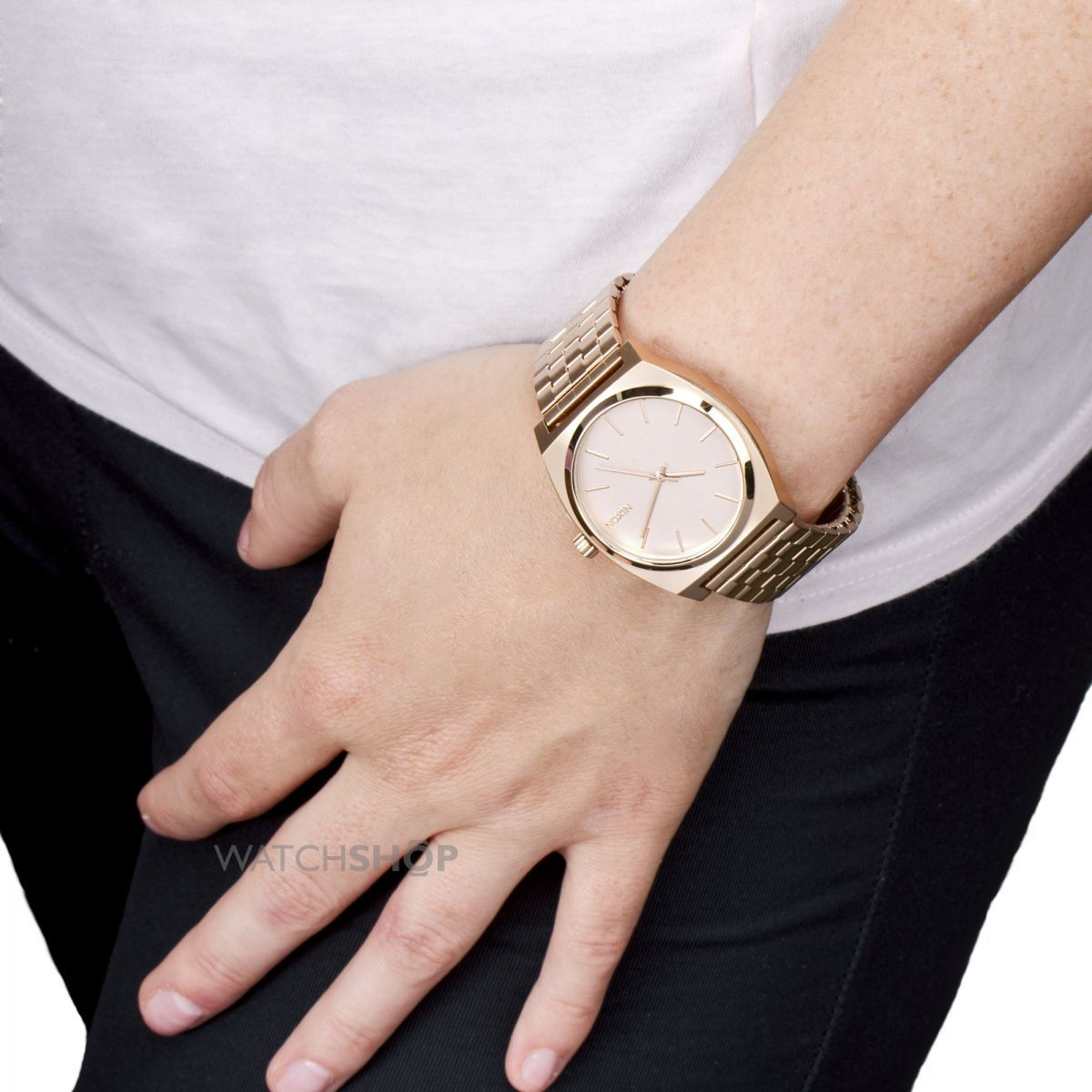 rose gold time teller nixon gommap blog nixon ladies the time teller watch rose gold lady and close image