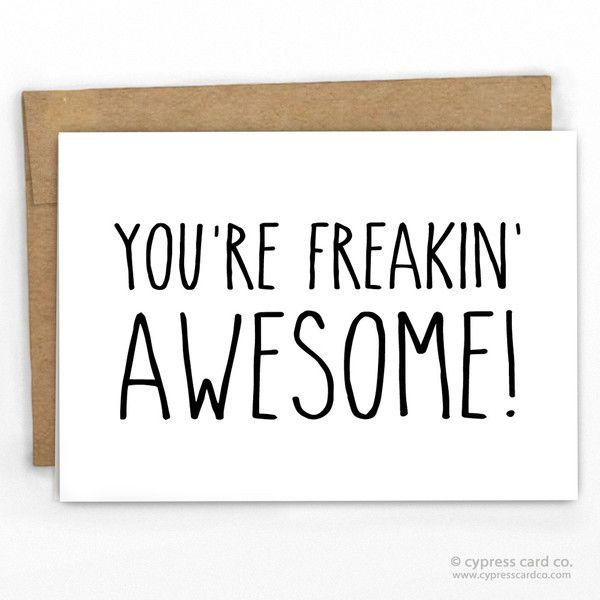 Youu0027re Freakinu0027 Awesome! Thank You Card Kraft envelopes, Card - cypress resume