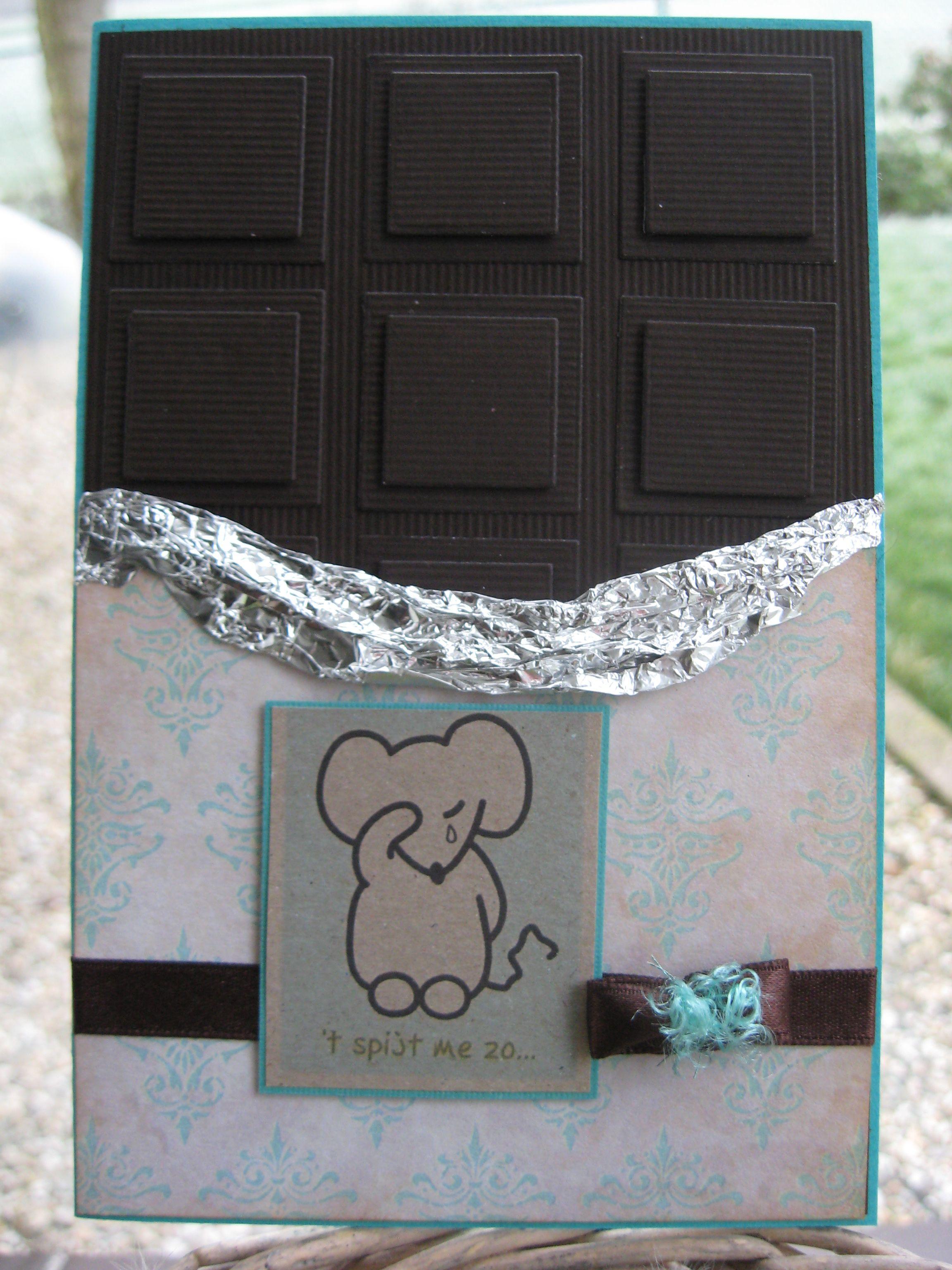 chocolade reep kaartje