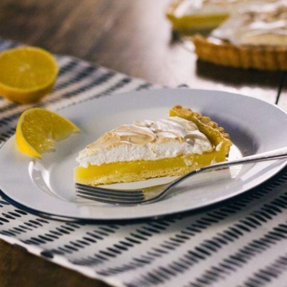 Lemon Meringue Pie. Lemon meringue pies are always breath taking. The sour of th...   - desserts -
