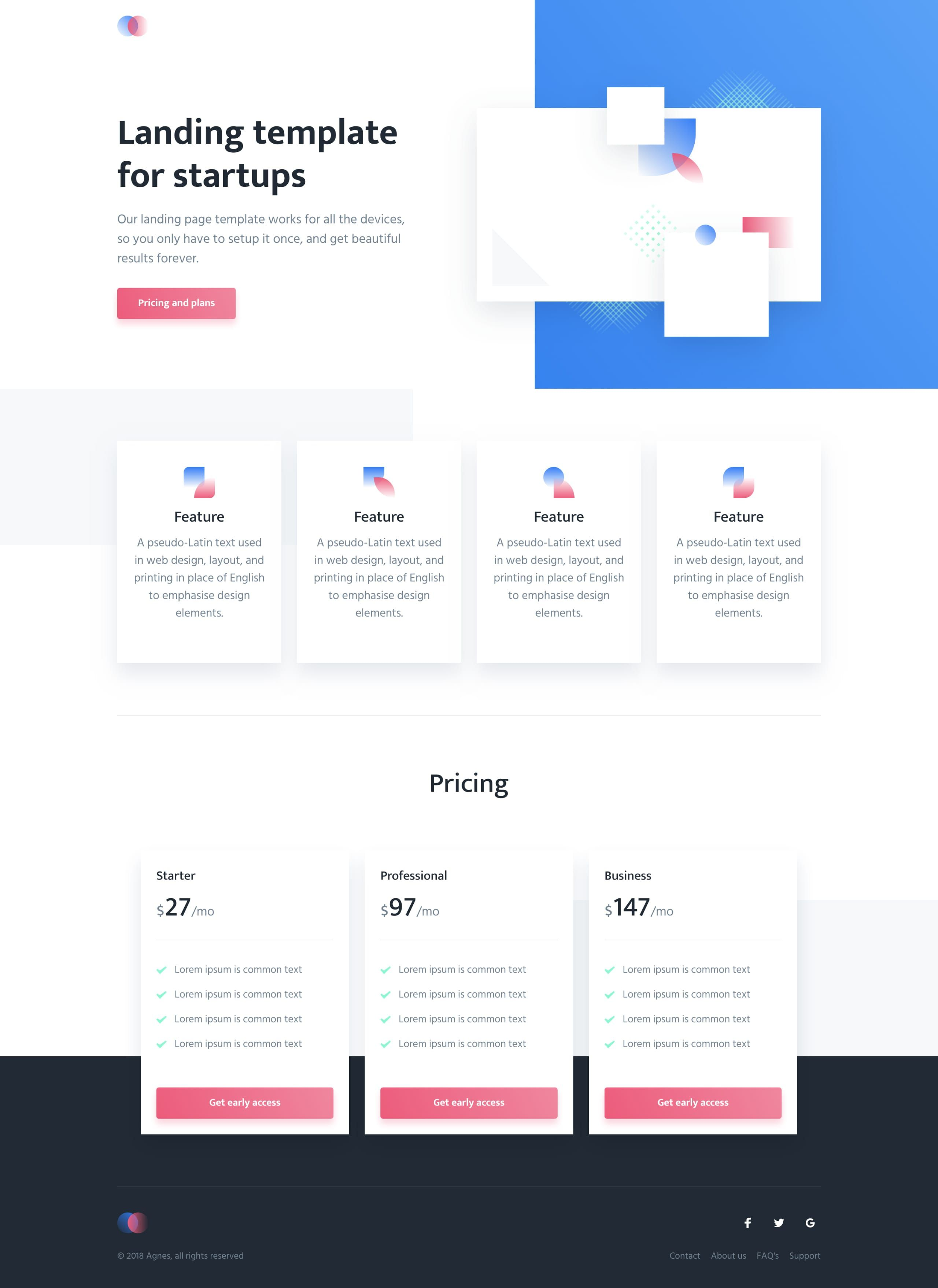 Agnes Is A Free Landing Page Html Template By Cruip The