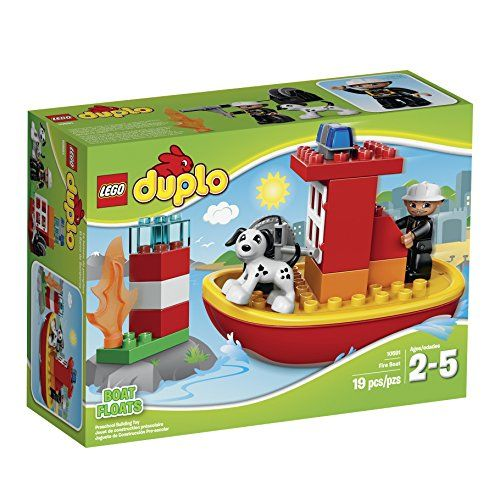 Get Set For A Seaside Rescue With The Lego Duplo Fire Boat The Buildable Lego Duplo Fire Boat Comes With A Firefighter Leg Lego Duplo Town Lego Duplo Buy Lego