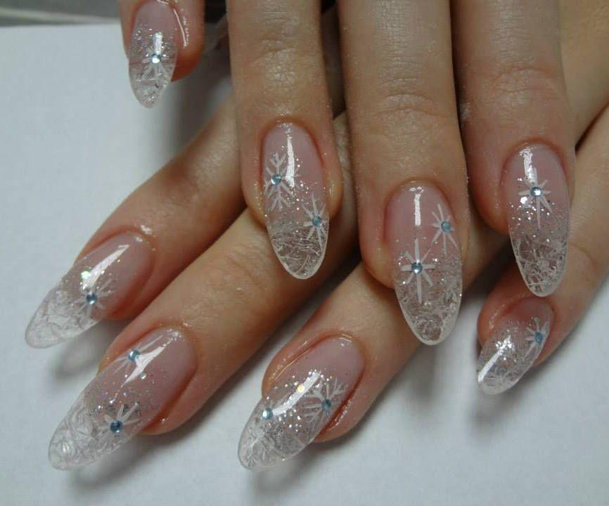 fingernail winter art | True winter nail art design. Transparent ...