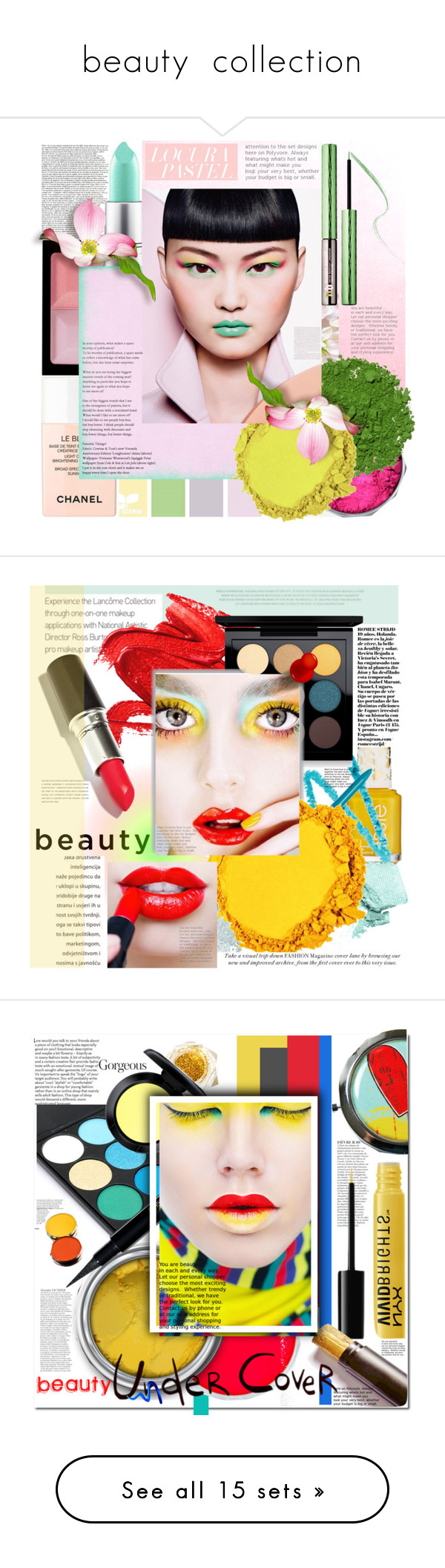 """""""beauty  collection"""" by licethfashion ❤ liked on Polyvore featuring beauty, Givenchy, MAC Cosmetics, Illamasqua, Chanel, Sephora Collection, NYX, polyvoreditorial, licethfashion and Stila"""