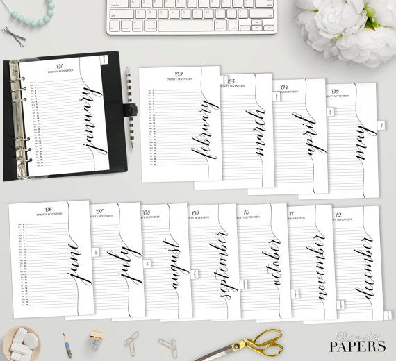 Printable Monthly Calendar  For You A And Personal Planner