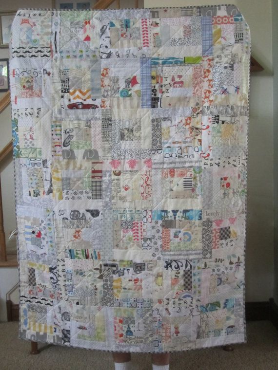 Modern Low Volume Log Cabin Quilt Baby Quilt Lap Quilt Gender Neutral Quilt Modern Quilt Baby Blanket Photograp Low Volume Quilt Log Cabin Quilt Quilts